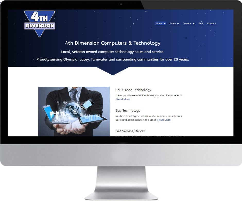 4th Dimension Computers website AFTER